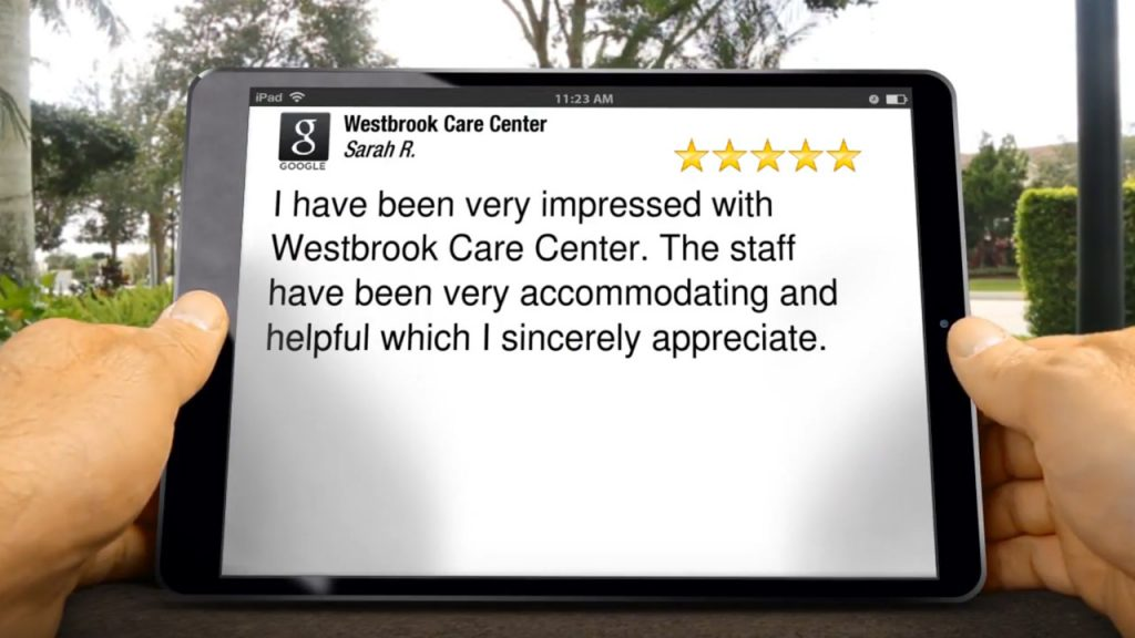 Westbrook Care Center Great<br/>Five Star Review by Sarah R