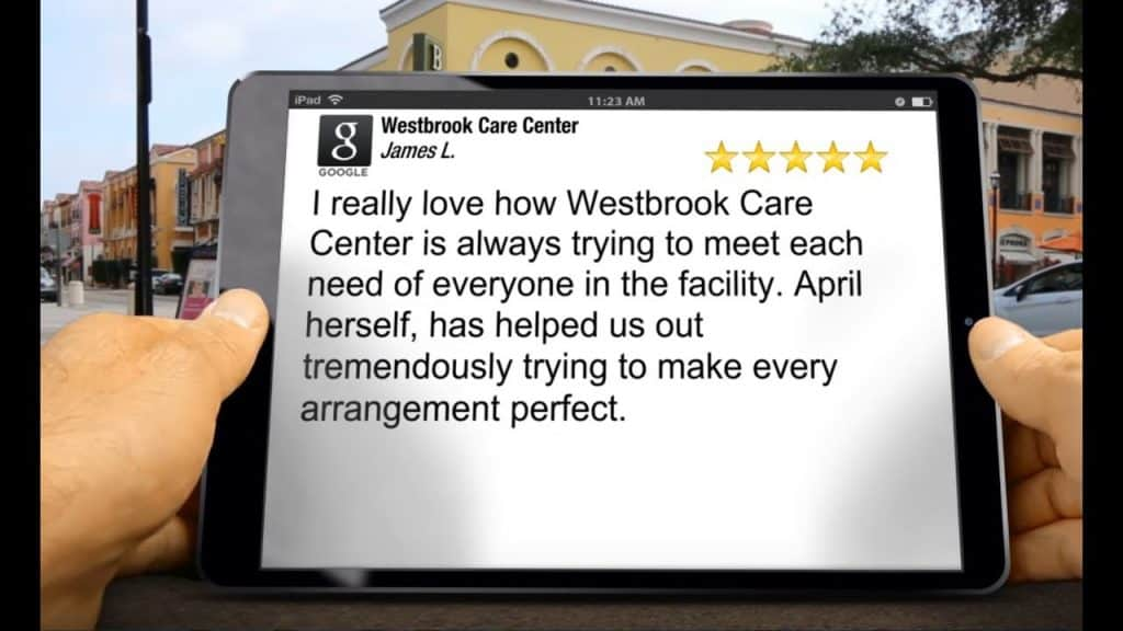 Westbrook Care Center Wonderful<br/>Five Star Review by James L